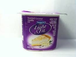 light and fit vanilla yogurt crazy food dude review dannon light fit toasted coconut vanilla