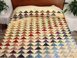 rainbow pyramid quilt splendid ably made amish quilts from