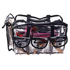 professional makeup carrier shany cosmetics clear makeup bag pro mua bag