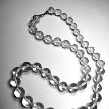 quartz rock necklace images Lovely art deco s sterling silver quartz rock crystal necklace jpg