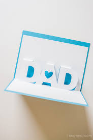 father u0027s day pop up card with free silhouette templates one dog woof