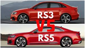 2018 audi rs5 coupe vs audi rs3 sedan youtube