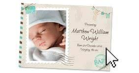 birth announcement wording birth announcement cards personalise print online