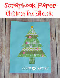 Arts And Crafts Christmas Tree - kids diy scrapbook paper christmas tree silhouette art