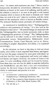 void and fullness in the buddhist hindu and christian traditions