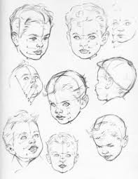 how to draw baby and toddlers heads in the correct proportions