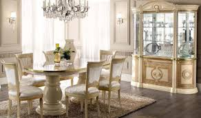 Gold Dining Room by Aida Dining Room Set In Gold Ivory Glossy Free Shipping Get