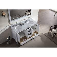 ace 61 inch double sink bathroom vanity set in white finish