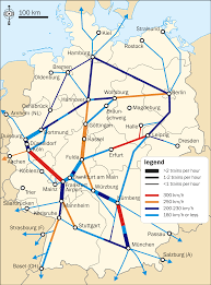 Bremen Germany Map by Germany Ice High Speed Train Network By