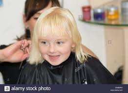 hair care little at a hairdressing salon stock photo