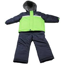 london fog boys heavy winter jacket snow bib overall pants green