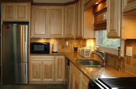 kitchen silver refrigerator color closed wooden cabinets in