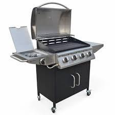cuisine barbecue barbecue au gaz albert cuisine extérieure 4 brûleurs feu latéral
