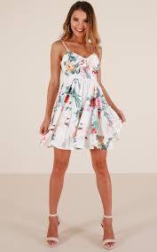 sun dress see the sun dress in white floral showpo
