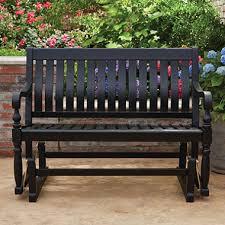 member u0027s mark painted wood glider bench black sam u0027s club