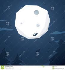 free halloween vector background halloween vector background with full moon bats stock vector