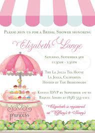 wedding shower tea party invitation wording wedding invitation