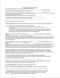 free roommate agreement template 13 best images of sample roommate agreement roommate agreement