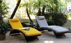 Synthetic Wicker Patio Furniture - havana oatmeal resin wicker lounger the dump america u0027s