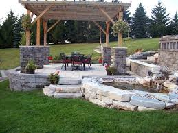 patio patio designs with fire pit and tub backyard patio