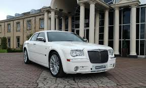 chrysler car white our limousines men in white limousines yorkshire