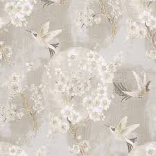 Wallpaper For Living Room Painted Contemporary Gold And Cream Hummingbird Wallpaper Walls