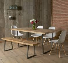 Natural Wood Dining Room Tables Natural Pattern On Wooden Bench And Table In Rustic Dining Room