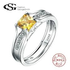 sterling diamond china 925 silver jewelry ring with chagne color diamond zircon