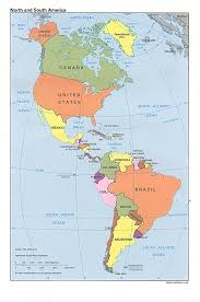 map of north and south america political map worldofmaps net