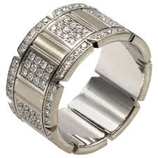 cartier rings images Cartier diamond gold tank francaise band ring at 1stdibs jpeg