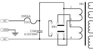 dual primary transformers use switch to choose between 110v