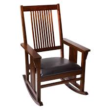 Wooden Rocking Chairs by Belham Living Remington Mission Rocker Walnut Hayneedle