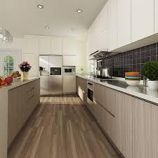 Knockdown Kitchen Cabinets Op14 M06 Melamine Finished Door Kenya Project Modern Kitchen