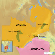 Zambia Map Zambia Country Holidays Hongkong