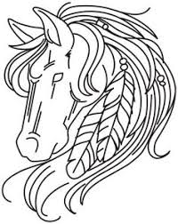realistic horse coloring pages stained glass horse