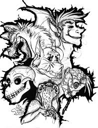 9 images of scary coloring pages scary halloween skulls