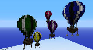 minecraft balloons hot air balloons adacia collection minecraft project