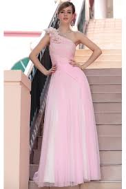 prom dresses online on sale pink one shoulder bridesmaid