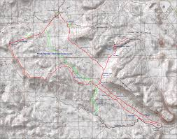 Map Of St George Utah by Bearclaw Poppy Old Green Valley Trail