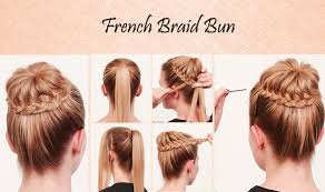 learn quick u0026 easy steps to make a suave u0026 bedazzled french braid bun