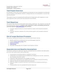 Performance Testing Test Plan Template performance test plan sle 2