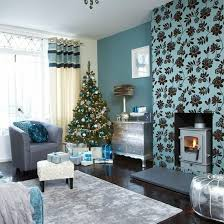 Best Christmas Living Rooms Images On Pinterest Christmas - Teal living room decorating ideas