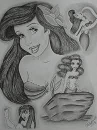 mermaid images ariel drawing wallpaper background