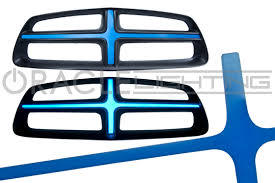 2014 Dodge Charger Tail Lights Illuminated Grill Crosshairs Electroluminescent Grille Insert By