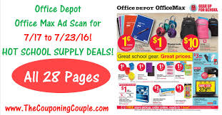 Office Depot by Office Depot Office Max Ad Scan For 7 17 To 7 23 16