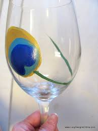 wine glass painting diy hand painted wine glasses with peacock feather design