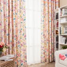 Vintage Floral Curtains Blue Floral Curtains Pink Yellow Black Green Vintage