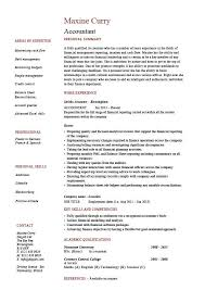 accounting resume templates accountant resume exle accounting description template