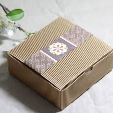 cookie box favors corrugated kraft paper square cake box cookie dessert