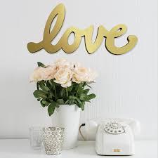 stratton home décor gold script love wall décor u2013 stratton home decor